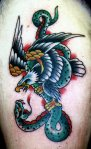 Steve Tiberi Tattoo eaglesnake002