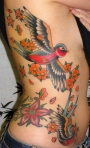 Steve Tiberi Tattoo flowersbirds